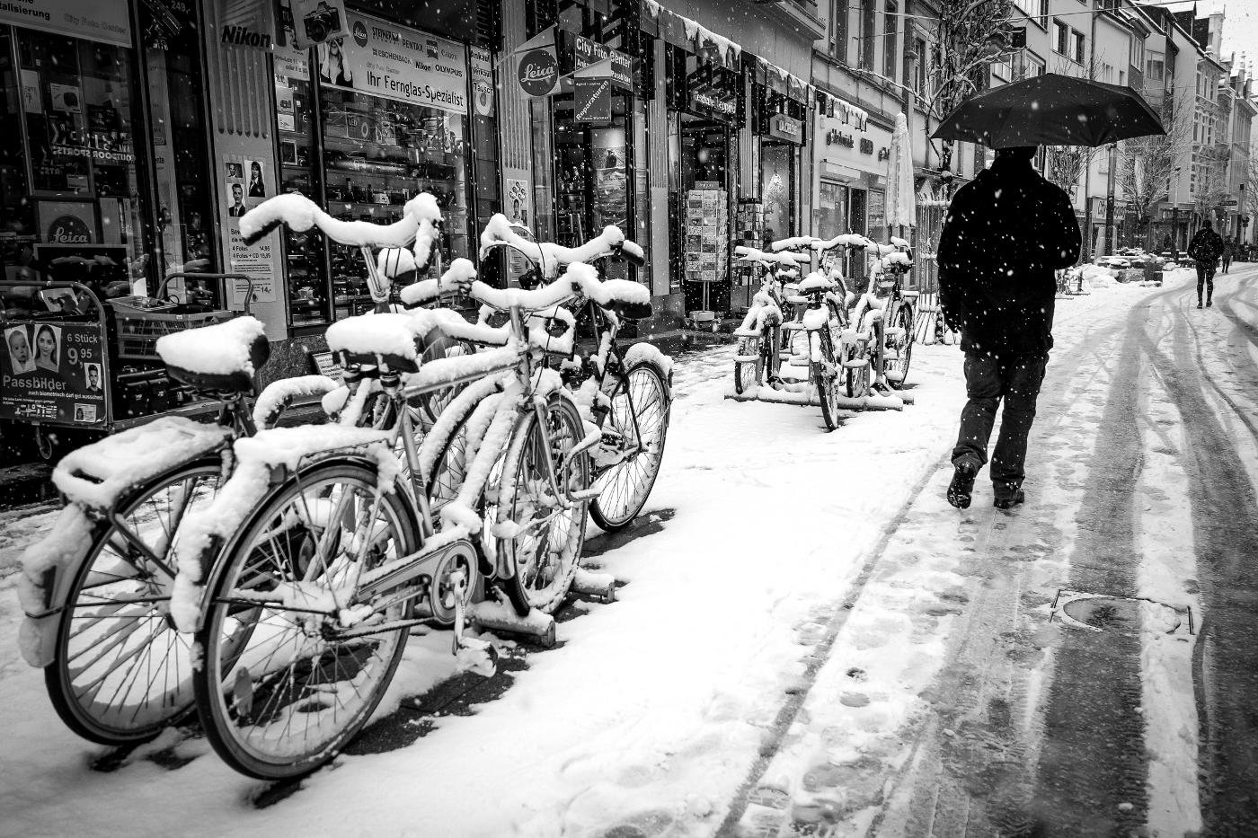 Schnee in der Stadt  © wolfgang röser | worobo