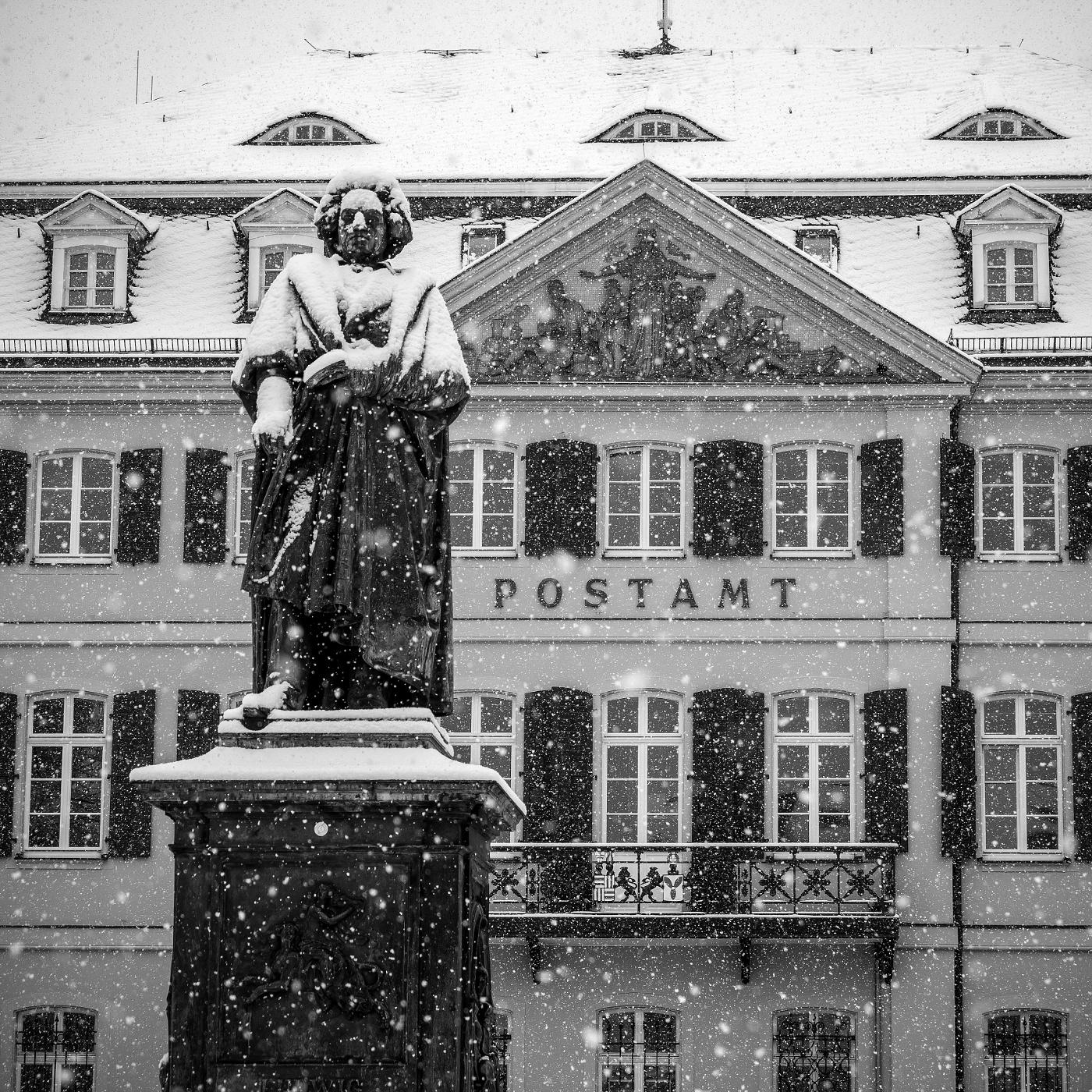 Schnee über Beethoven | © wolfgang röser | worobo